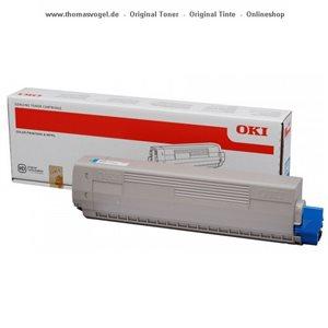 Original Oki Toner cyan 44059255