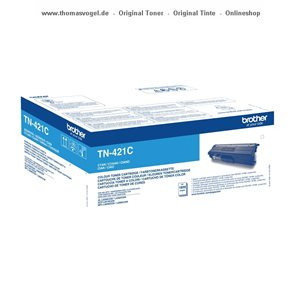 Original Brother Toner cyan TN-421C (1.800 Seiten)