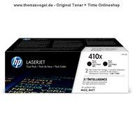 Original HP Toner schwarz CF410XD (410X) Doppelpack für je 6.500 Seiten
