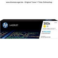 Original HP Toner gelb CF542X (203X) für 2.500 Seiten