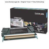Original Lexmark Toner schwarz C746H1KG (12.000 Seiten)