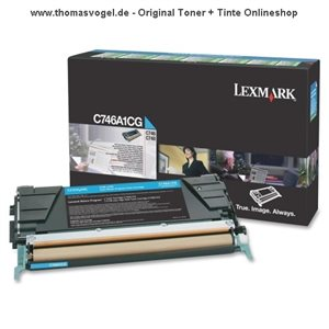 Original Lexmark Toner cyan C746A1CG (7.000 Seiten)
