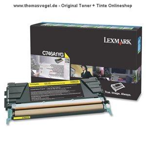 Original Lexmark Toner gelb C746A1YG (7.000 Seiten)