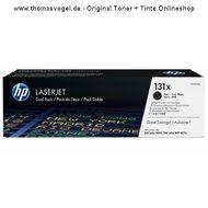 Original HP Toner CF210XD schwarz (2 x 2.400 Seiten)