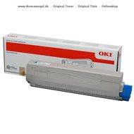 Original Oki Toner cyan 44844507
