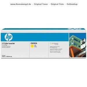 HP Toner gelb CB382A